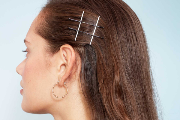 Easy Sweep With Hair Pins